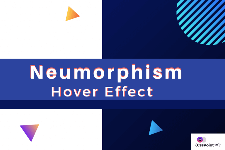 neumorphism hover effect