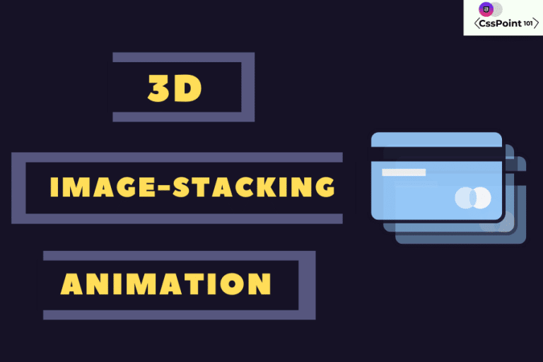 3d card stacking animation