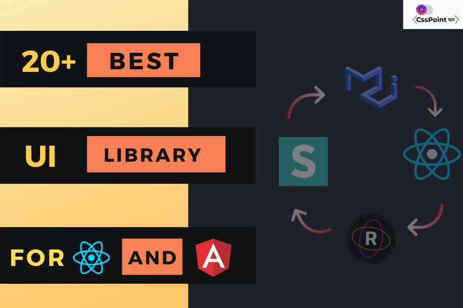 best react and angular ui component library